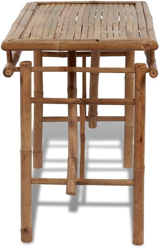 vidaXL Bambú Mesa Plegable Mueble Jardín Patio Mesilla Mesita ...