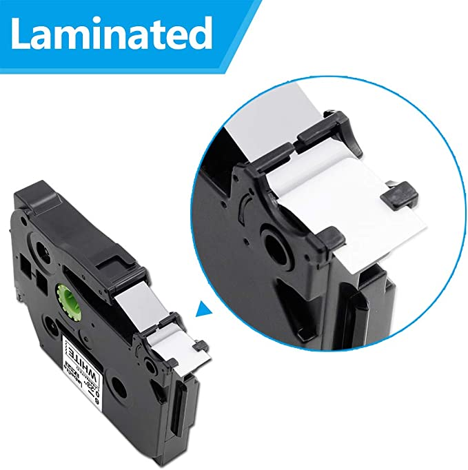 4-Pack Labelife replace P-Touch TZe Label Tape 6mm TZe-211 TZe211 TZ-211 TZ211 Laminated Tape Cartridge Compatible Brother P Touch Label Maker Tape 1//4 Inch x 26.2 Feet Black on White