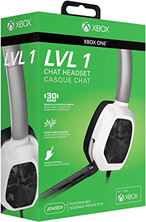 PDP - Mono Auricular Chat Afterglow LVL 1 Camo, Color Blanco (Xbox ...