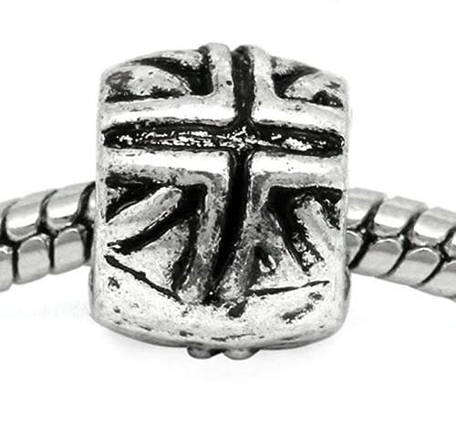 Sterling Silver UK United Kingdom England CZ Bead for European Charm Bracelet