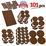 Heavy Duty Felt Pads for Chair Legs Mighty X Heavy Duty Felt Furniture Pad Protectors by iPrimio - Pack 101 Pcs, Place Under Furniture Legs, Feet, Dining Table, Couches, Vases. Protect Hardwood Floors. Protect All Surfaces. BROWN