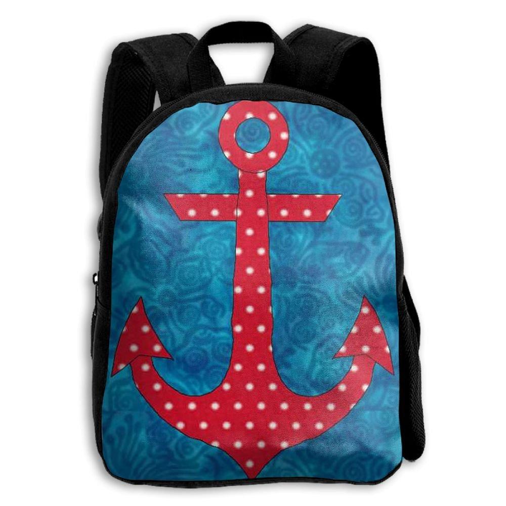 fidaljf海洋アンカーの海賊子供の3dプリントファスナー付き旅行バッグ学校バックパック B07DN7RL7M