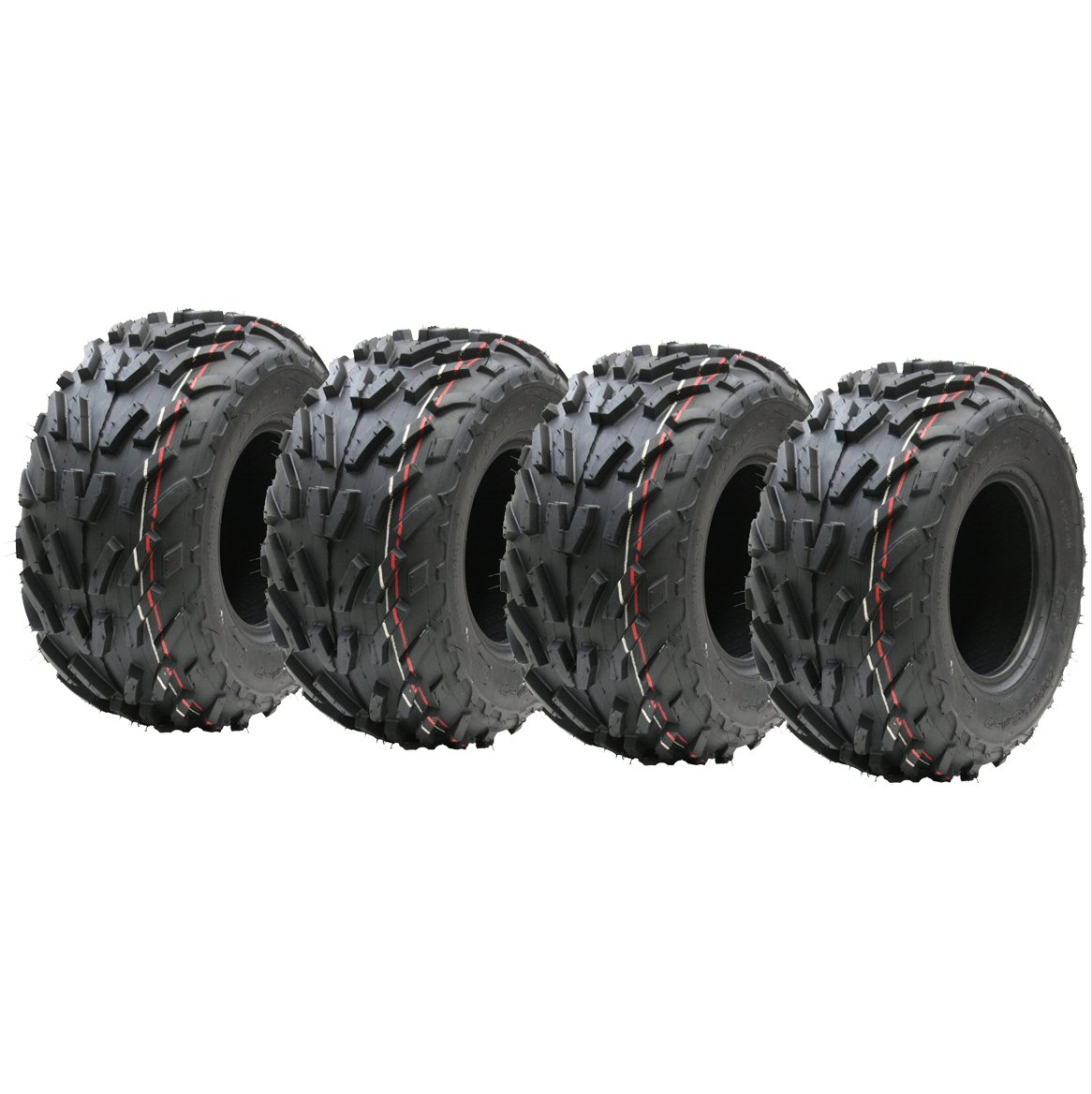 Four 16x8.00-7 quad tyres, 16 x 8-7 ATV E marked road legal tyre 7 inch Wanda