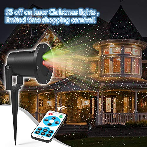 InnooLight Laser Christmas Lights Outdoor Laser Light Show Red and Green IP65 Waterproof Outdoor Decoration Light Projector with Remote for Christmas, Holiday, Party, Landscape, and Garden Decoration