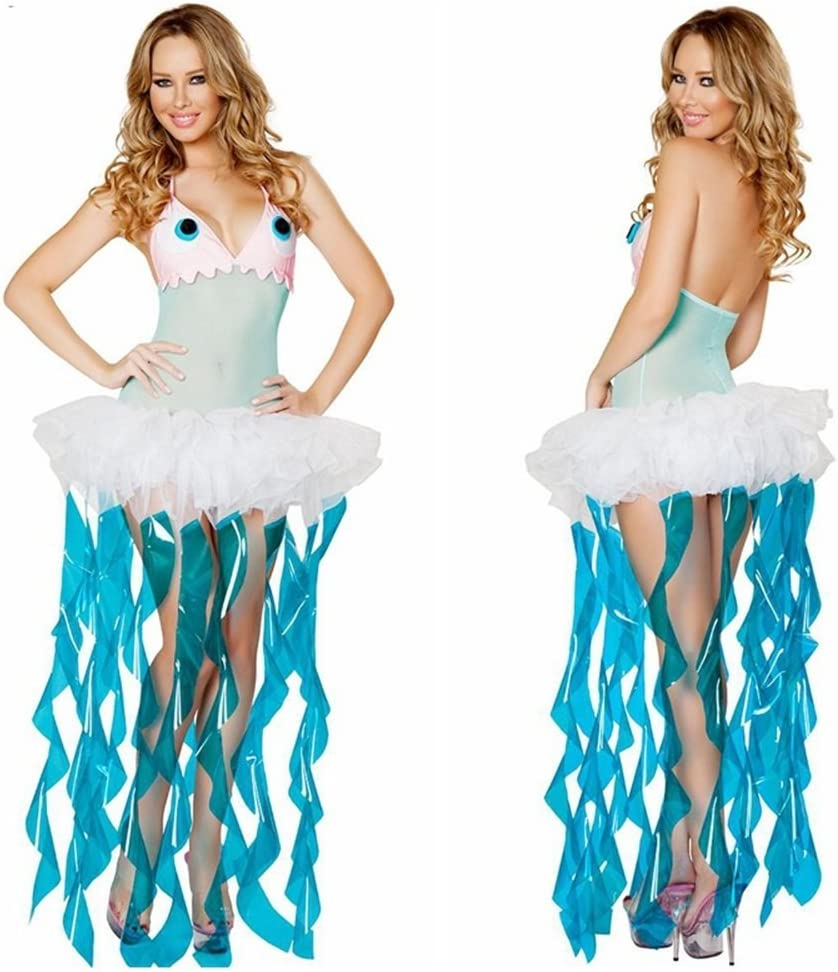 KTYX Halloween Medusas Cosplay Set Marine Theme Party Costume ...