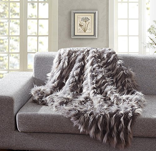 Special De Moocci Luxury Faux Fur Throw Blanket, Eyelash Pattern Spring Summer Colors Extra Warm Breathable Cozy Warm for Winter– Decorative Furry Throw for Couch Bed (50'' x 60