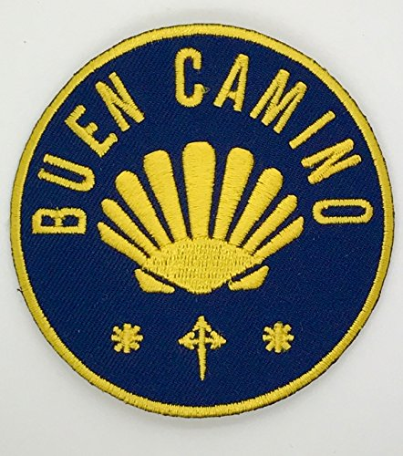 Camino de Santiago Way of St. James Scallop Shell Road Pilgrim Cloth Patch New (Shell Scallop Small)