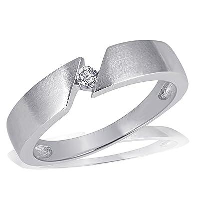 Weißgold ring damen  Goldmaid Damen-Ring 585 Weißgold Solitär 1 Brillant 0,07 Karat ...