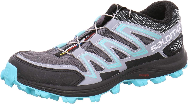 Salomon Speedtrak W - Zapatillas de trail para mujer, color Gris, talla 37 EU: Amazon.es: Zapatos y complementos