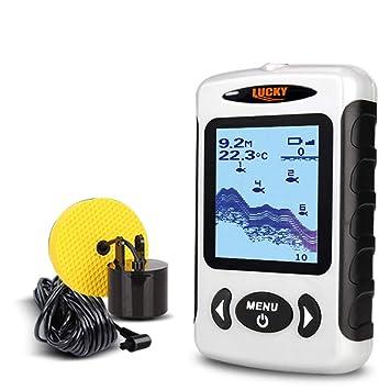 Buscador de Peces, Detector de Pesca portátil Sonar Pesca Echo Sounder 100M Profundidad Visual HD