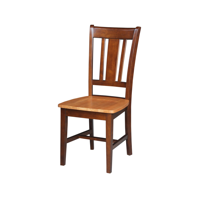 International Concepts San Remo Splat Back Chair, Cinnemon/Espresso