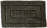Kassatex 100-Percent Egyptian Cotton Kassa Design Bath Rug, 20 by 32-Inch, Charcoal