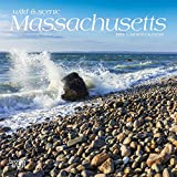 Massachusetts, Wild & Scenic 2019 7 x 7 Inch Monthly Mini Wall Calendar, USA United States of America Northeast State Nature (Multilingual Edition)