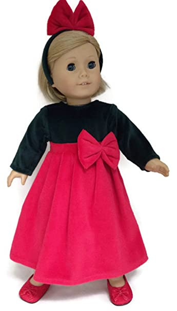 """eb154d4b90b3 Doll Clothes Fits 18"""" American Girl Doll and other 18"""" dolls Dark  Green &"""