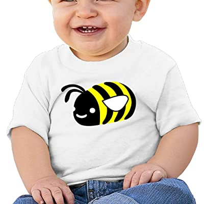 Chengrangst Cute Bee Toddler/Infant Short Sleeve Cotton T Shirts Gray