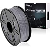 SUNLU 3D Printer Filament PLA Plus Grey,PLA Plus Filament 1.75 mm, Low Odor Dimensional Accuracy +/- 0.02 mm 3D Printing Filament,2.2 LBS (1KG) Spool 3D Printer Filament,Grey