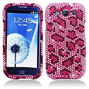 Aimo Wireless SAMI9300PCDI123 Bling Brilliance Premium Grade Diamond Case for Samsung Galaxy S3 i9300 - Retail Packaging - Pink Leopard