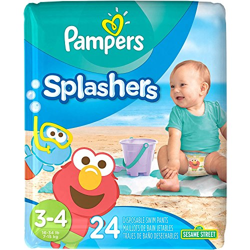 Pampers Splashers Diaper Sesame Street - Size 3-4 - 24 ct (Pack Pamper Yourself)