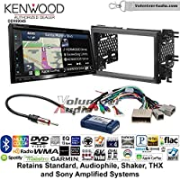 Volunteer Audio Kenwood Excelon DNX694S Double Din Radio Install Kit with GPS Navigation System Android Auto Apple CarPlay Fits 2007-2010 Edge (With factory amplified sound)