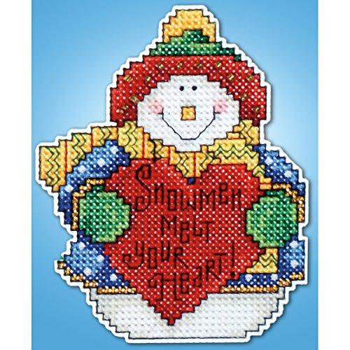 - Tobin 14 Count Snowman Ornament Plastic Canvas Kit, 4