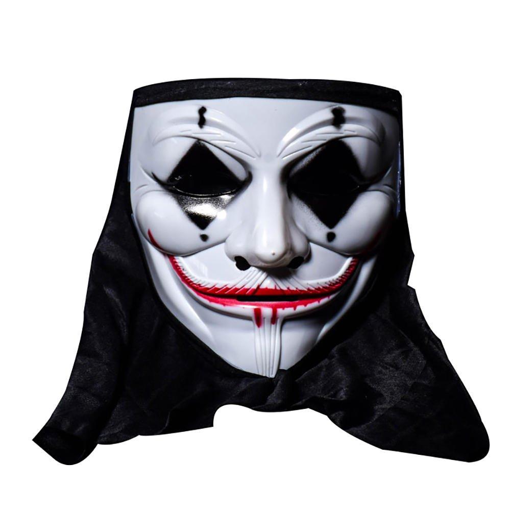 Scarey Cloak - Halloween Skull Vampire Clown Mask Bar Dance Horror Scary Soul Hop Male Adult - Shivery Dissemble Chilling Masquerade Alarming Masque Shuddery Block - 1PCs