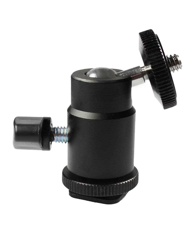 hotshoe mount - 2 pieces com-four/® Mini Tripod Head with Ball Head//Tripod Mini Ball Head with 1//4Thread for DSLR Camera Tripod 360 /° rotatable Hot shoe assembly - 2 pieces