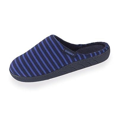 2c95ffdbaf331 Isotoner Chaussons Mules Garçon Rayures Bleues -Multicolore -35 EU ...