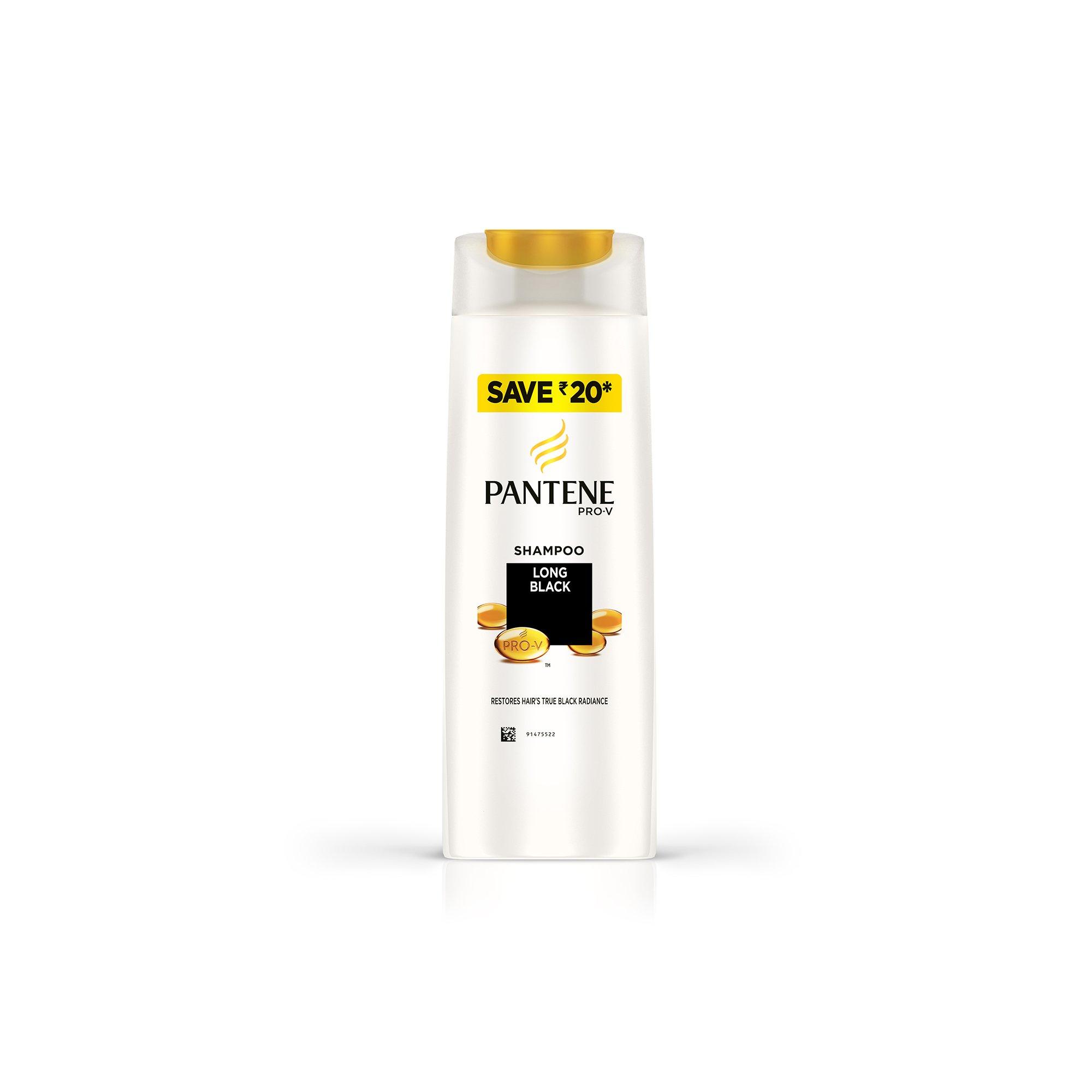 Pantene Long Black Shampoo, 180ml product image