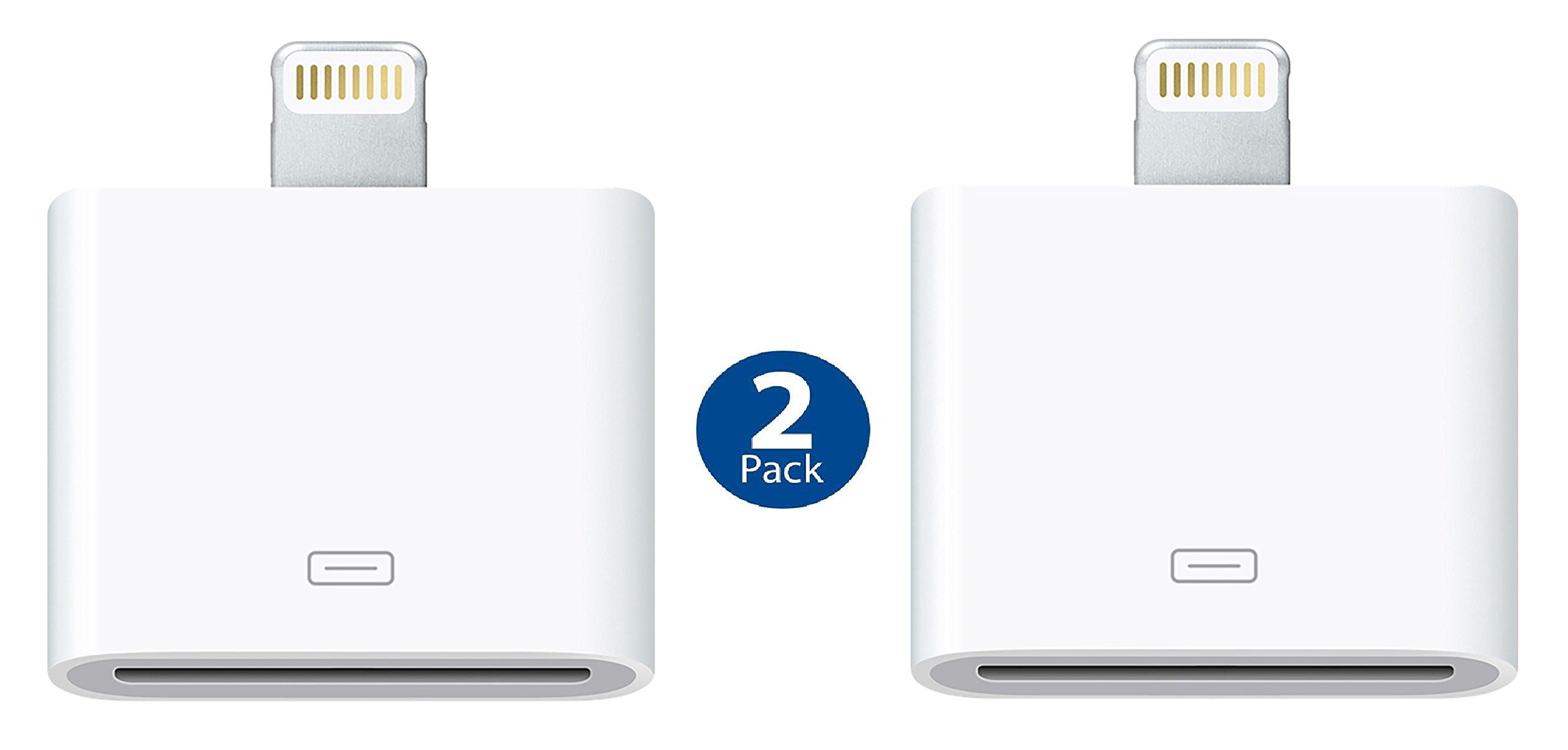 Apple Lightning to 30-pin Adapter - White (2 PACK)