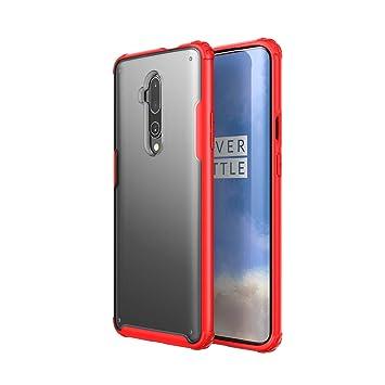 hyujia Compatible OnePlus 7Pro Funda(2019) 3D Vidrio Templado Pantalla Protector,Ultra Fina Mate Transparente TPU Bumper Antigolpes cojín Caja Caso ...