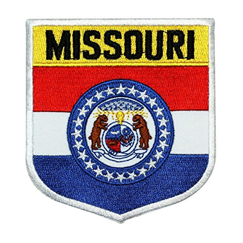 State Flag Shield Missouri Patch Badge Travel USA Embroidered Iron On Applique (Gateway Arch Patch)