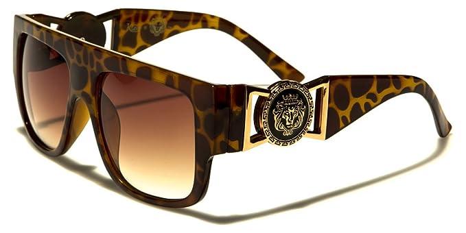 Kleo - Gafas de sol de aviador con parte superior plana y ...