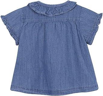 Gocco Camisa Vaquera Manga Corta Blusa, Azul (Denim S07cmcca101zp), 68 (Tamaño del Fabricante: T: 6/9) para Bebés: Amazon.es: Ropa y accesorios