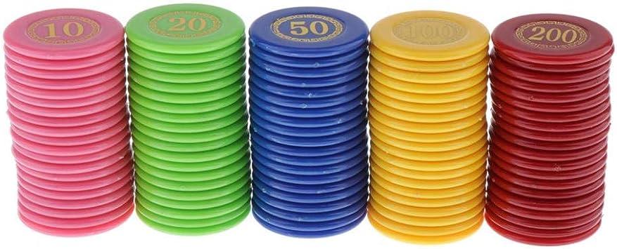 Baoblaze 100x Juego de Mesa Juego de Tablero de Fichas de Póquer de Casino Juego de Fichas de Dinero: Amazon.es: Juguetes y juegos