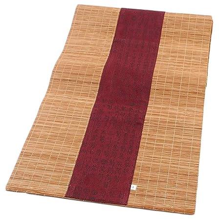 HYDT Camino de Mesa de bambú Rojo para el hogar, Mantel Enrollable ...