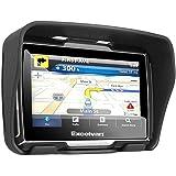 Excelvan W4 - Motorad Navigationsgerät mit 4,3 Zoll Display (BT, Wasserdicht IPX7, 8GB, GPS, SATNAV, NAVI für Motorad Auto )