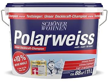 Polarweiss 11 L Wand Deckenfarbe Innenfarbe Schöner Wohnen Amazon
