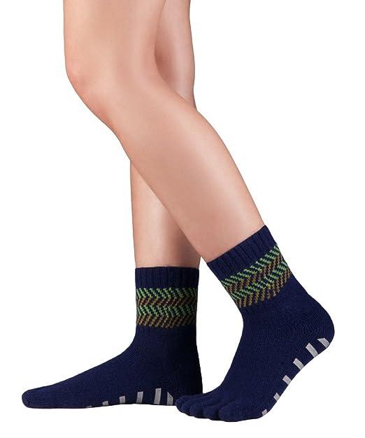 Knitido calcetines invernales antideslizantes en lana merino y cachemira, sin ne suturas ni elástico,