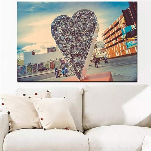 RTCKF Corazón Creativo Lienzo Pared Arte Pintura sobre ...
