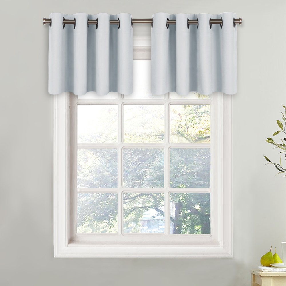 Cream Beige, One Pack, 52 Wide x 18 Long + 1.2 Header NICETOWN Window Treatment Darkening Valance Plain Solid Grommet Top Valance Curtain for Kitchen Window