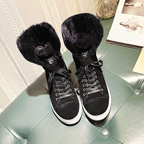 Inverno Inverno 120W Pelle Coreana Velluto da XIE Stivali Stivali Stivali Stivali Piatta Signora in in Neve più Prima 36 Stivali up Pizzo Femminili Calda Bnqw5FHx