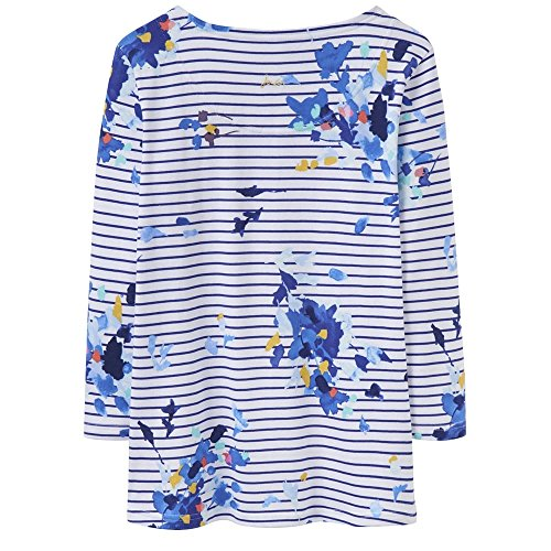 Joules Harbour Ladies Top (T) Multi Floral Stripe
