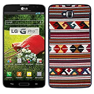 Print Motif Coque de protection Case Cover // M00154174 Raster paño textil Etno Tkanica // LG G Pro Lite D680