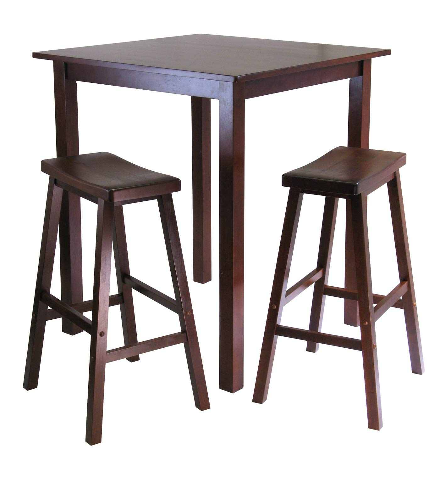Winsome Wood 94349 Parking 3-pc Pub Set Dining Table, Walnut by Winsome Wood