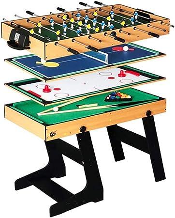 ZHRLQ Mesa de Juego 4 en 1, Mesa combinada Estable multifunción Mesa de fútbol Mesa de Billar Tenis Hockey sobre Hielo, Adecuado para niños Adolescentes Adultos: Amazon.es: Hogar