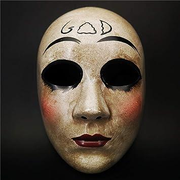 CCUFO Máscara Cruzada y máscara de Dios para Disfraz de Halloween, máscara de Purga de