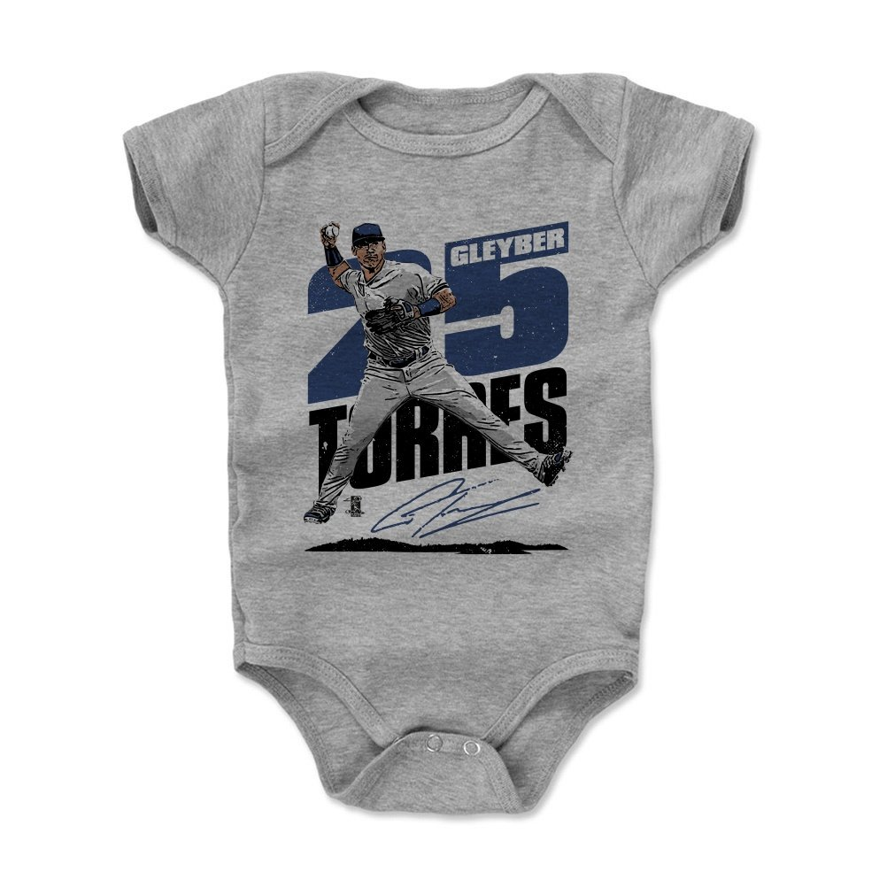 3-6, 6-12, 12-18, 18-24 Months - New York Baseball Baby Clothes 500 LEVEL Gleyber Torres Baby Clothes /& Onesie Gleyber Torres Double Play