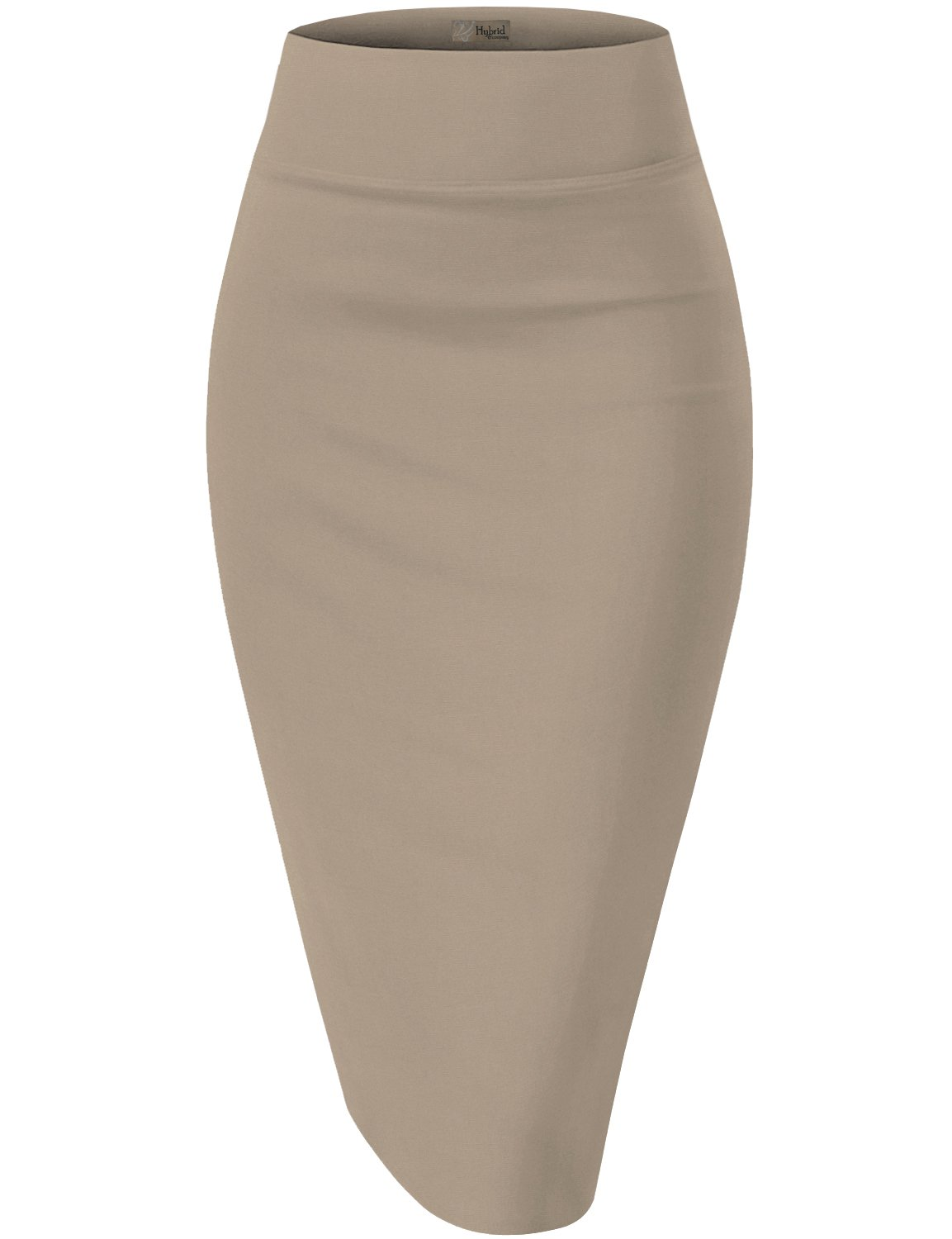 Womens Premium Stretch Office Pencil Skirt KSK45002 X 1073T Beige/Khak 2X