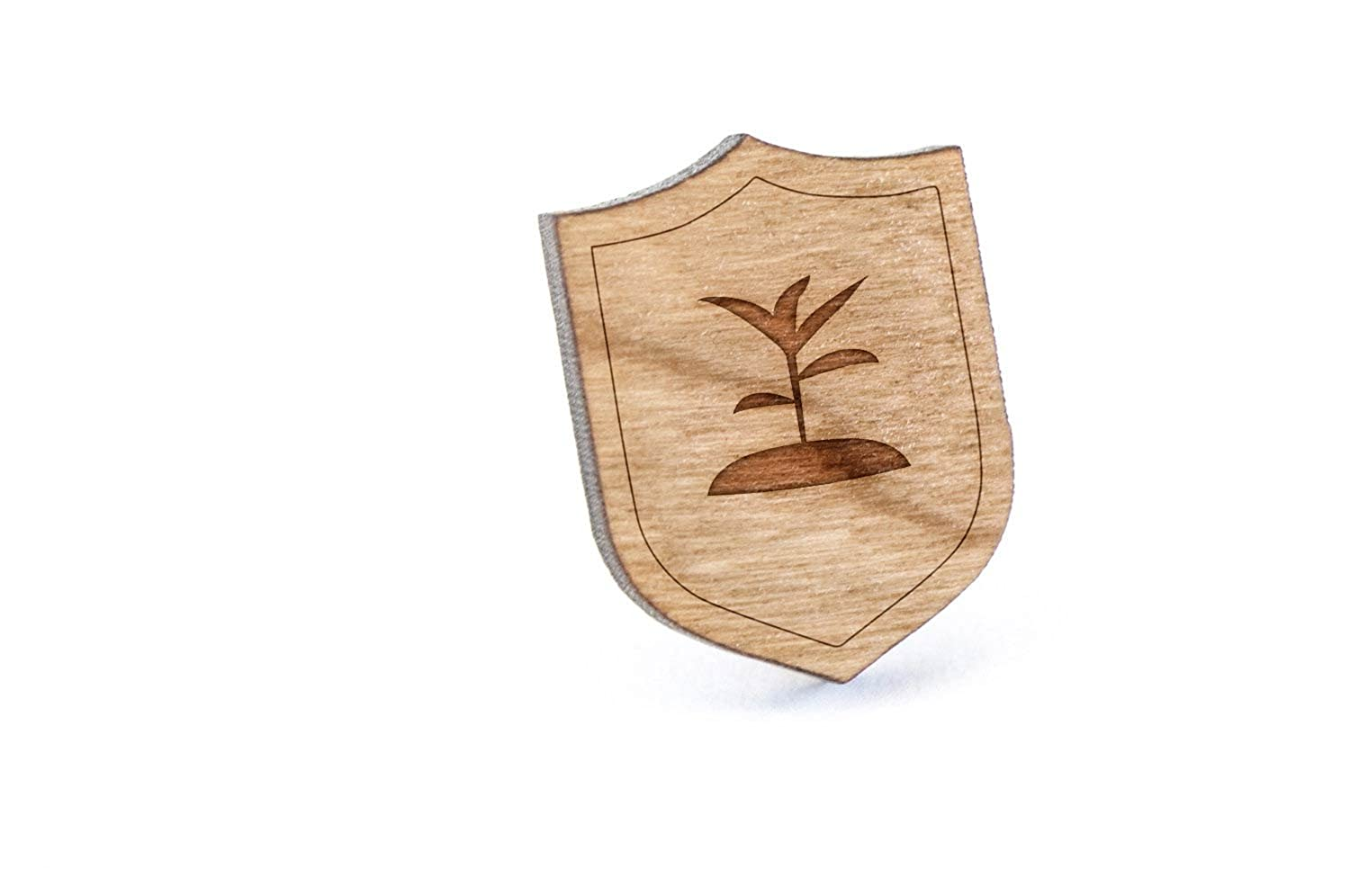 Seedling Lapel Pin, Wooden Pin And Tie Tack | Rustic And Minimalistic Groomsmen Gifts And Wedding Accessories