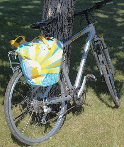 FASTRIDER SHOPPER SUMMERTIME Bike Pannier/Bag Yellow Sun 25.5L Water Resistant (Shopper Pannier)